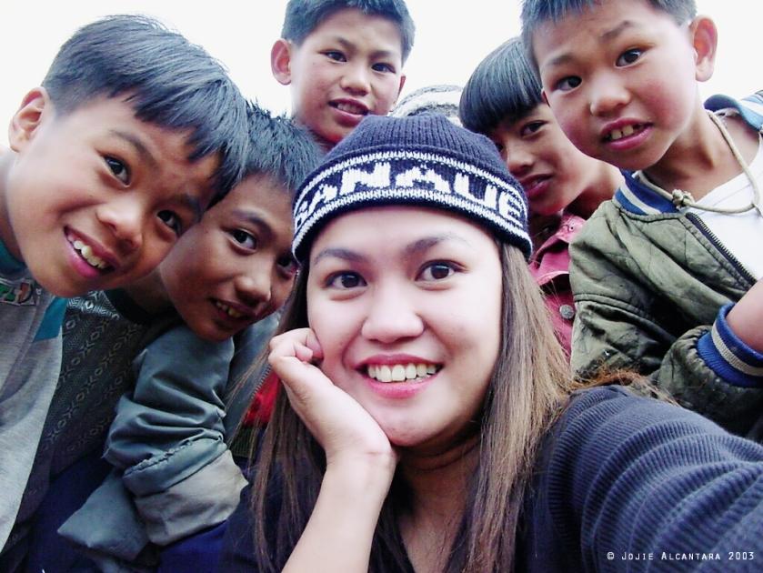 selfie with Benguet kids