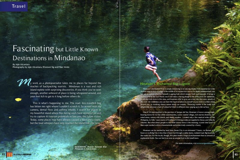 Hinatuan River published in M Magazine