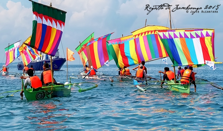 Regatta de Zamboanga 2015, Zamboanga's Vinta Race at Hermosa Festival © Jojie Alcantara