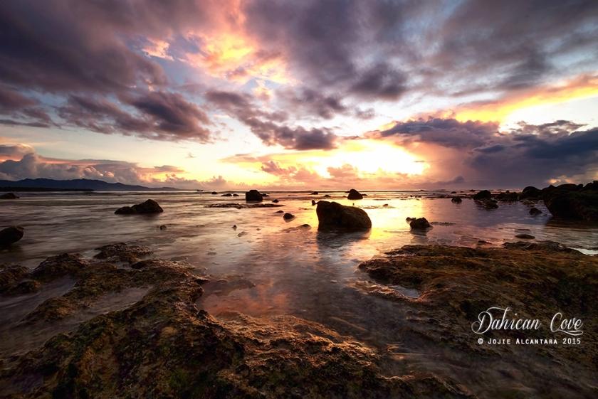 Dahican Cove at sunrise by Jojie Alcantara