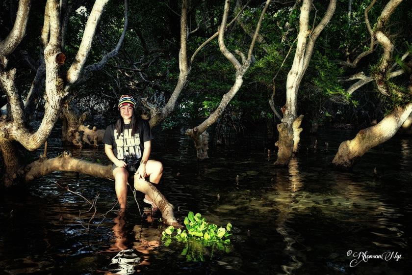 Jojie in Talikud Mangrove Park by Rhonson Ng
