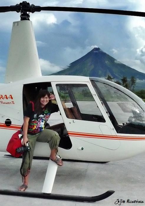 Jojie Alcantara shooting Mount Mayon in 2010