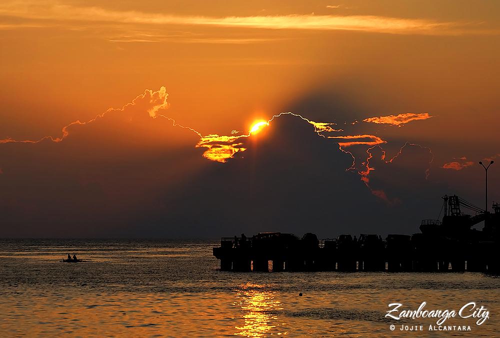 Sunset in Paseo del Mar Zamboanga by Jojie Alcantara