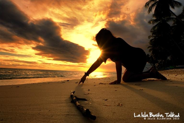Sunset selfie in La Isla Bonita Talikud © Jojie Alcantara