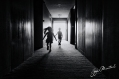 Kids running in the corridor © Jojie Alcantara
