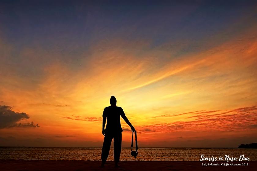 Sunrise in Nusa Dua Bali by Jojie Alcantara