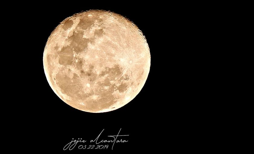 Super Worm Moon March 22 2019 by Jojie Alcantara